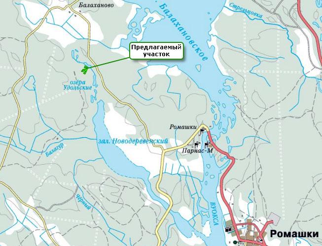 карта для рыбалки приозерский район